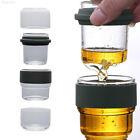 505E Creative Glass Coffee Pots Tea Cup Tea Set Transparent Drinks Dining