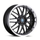 Beyern Mesh 17x7 +27 Gloss Black w/Mirror Cut Lip Wheel Rim 4x100 (QTY 1)