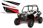 AMR Racing Graphic Wrap Kit Polaris RZR 900 UTV INC Doors RZR900 Decal WHITE LT
