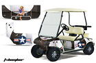 Graphics Kit Decal SxS Sticker Wrap For Club Car Golf Cart 1983-2014 TBOMBER WHT