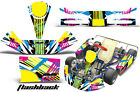 Go Kart Racing Graphics Kit Decal Sticker Wrap For KG Kid Baby Krypton FLASHBACK