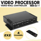 2x2 TV22 4 Channel Video Wall Controller HDMI Outputs AV WMV multi-format