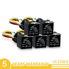 5 Pack 12V 30/40 A 5-Pin SPDT Automotive Relay with Wires & Harness Socket Set