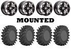 Kit 4 STI Outback Max Tires 30x9.5-14 on Sedona Rukus Grey Wheels H700