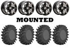 Kit 4 STI Outback Max Tires 30x9.5-14 on Sedona Rukus Grey Wheels FXT