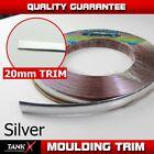 """300"""" 20MM 3/4"""" Silver Moulding Trim Strip Strip Car Exterior Decoration Flexible"""