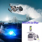For Snowmobile A pair H4 9003 COB LED 72W 9000LM 8000K Headlight Kit Hi Low