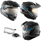 Snowmobile Helmet Electric Full Face CKX Mission AMS Tracker Blue Mat Medium