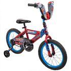 "Huffy 16"" Marvel Spider-Man Boys Bike Comfortable Grips Kid Child Blue Red"