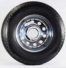 Trailer Tire On Rim ST225/75R15 225/75 15 LRD 6 Bolt Hole Modular Wheel Chrome