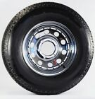 Trailer Tire On Rim ST225/75D15 225/75 15 LRD 6 Bolt Hole Modular Wheel Chrome