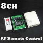 8CH Latch RF Remote Control & Programable Receiver 315M