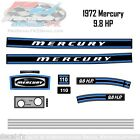 1972 Mercury 9.8HP Kiekhaefer Outboard Reproduction 14 Piece Vinyl Decal Kit 110