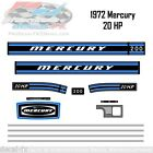 1972 Mercury 20 HP Kiekhaefer Outboard Reproduction 13 Piece Vinyl Decal 200