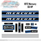 1972 Mercury 65 HP Kiekhaefer Outboard Reproduction 17 Piece Vinyl Decals 650