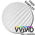 """VViViD White Carbon Fiber WC3M01 2.5ftx5ft 30""""x60"""" Vinyl Wrap Air Release Tech"""
