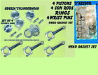 NEW FORD FOCUS ESCORT YS4E F7CE 4 PISTONS RINGS 4 CON RODS HEAD GASKET SET