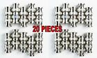 20 pcs BNC Double Male Adapter Connector Splitter Adapter Coupler NF-75