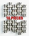 10 pcs BNC Double Male Adapter Connector Splitter Adapter Coupler Brand New