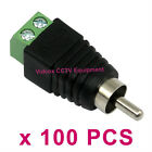 100x CAT5 CAT6 UTP Cable to Screw Terminal Phono Male RCA Connector Jack Adapter