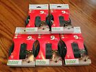 Set of Five -- Westinghouse Three Outlet Indoor Green Extension Cords - 9'