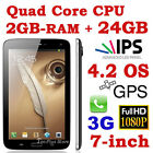NEW EZIO 5189B 7.0-inch 24GB ANDROID 4.2 2GB-RAM QUAD CORE 3G GPS TABLET PHONE b