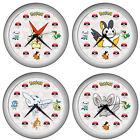 Pokemon Pokebal Wall Clock Victini - Emolga  - Togekiss - Minccino  With Starter