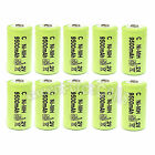 10 pcs C Size 1.2V 9500mAh Ni-MH Rechargeable Battery Cell Green US Stock