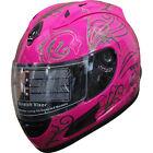 DOT Full Face Motorcycle Helmet(508) 164 Pink