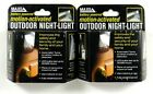 Lot of(2) MAXSA INNOVATIONS 40341 Battery-Powered Motion-Activated Outdoor Night