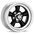 15 inch 15x6 15x7 Torq Thrust D BLACK Rims Wheels OLD SCHOOL CLASSIC 5x4.5
