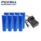 8pcs 18650 Lithium Li-ion Batteries for Flashlight XML Cree+ 18650 Dual Charger