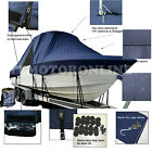 Shamrock 260 Open Center Console T-Top Hard-Top Fishing Boat Cover Navy