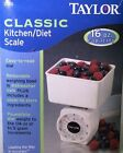 New Taylor Diet Kitchen Food Scale Mechanical Scale 16oz. Classic White 3720