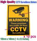 10x CCTV Video Surveillance Security Camera Warning Sticker Adhesive Sign Notice