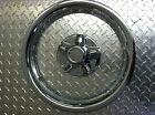 "(2) 14"" Chrome Trailer Wheel Ring / Cap 2 piece Covers SHARP!!"