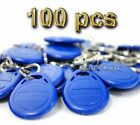 100x 125kHz RFID Proximity ID Token Tag Key Keyfobs For Access System Keychain