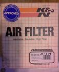 "NOS K&N AIR FILTER 59-2010 40deg angle 2-3/4"" flg 4.5X7""OVAL  FREESHIPUS+CAN"