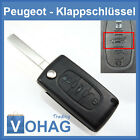 PEUGEOT Car Key Blank New 207 407 208 307-308 Folding 3 Button