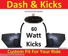 67-68 Firebird Camaro Kick Panels w/ Speakers + Dash Speaker for Radio NO A/C
