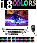 6pc MULTI COLOR LED SKI-DOO SNOWMOBILE UNDER GLOW LIGHT KIT w REMOTE CONTROL
