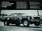 1968 PLYMOUTH ROAD RUNNER VTG KEYSTONE WHEEL AD-DRAG/426 HEMI V8/Sox&Martin/1969