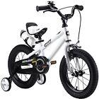 "BMX Kids Bike Boys Girls Freestyle Bicycle Training Wheels Sport White 14"""