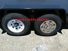 "(1) Phoenix USA 15"" Stainless Trailer Wheel Hub Cap Rim Covers; Bolt On! NST15"