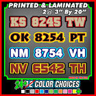 Custom Snowmobile Registration ID Numbers Letter Vinyl Stickers Decals 3 COLOR