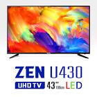 "New 43"" WASABI MANGO ZEN U430 Real 4K UHD TV 60Hz 3840x2160 HDMI LED TV Monitor"