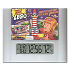 retro vintage Lego Ad Digital Wall Desk Clock with temperature + alarm