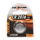 1x ANSMANN CR2016 Lithium coin cell/ button cell (3V) DL2016