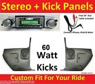 67 Chevelle El Camino Radio & Kicks w Speakers for Stereo Radio 630 No A/C