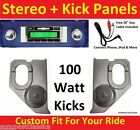 1964-66 Chevy Truck Radio & Kicks w Speakers for Stereo Radio 630